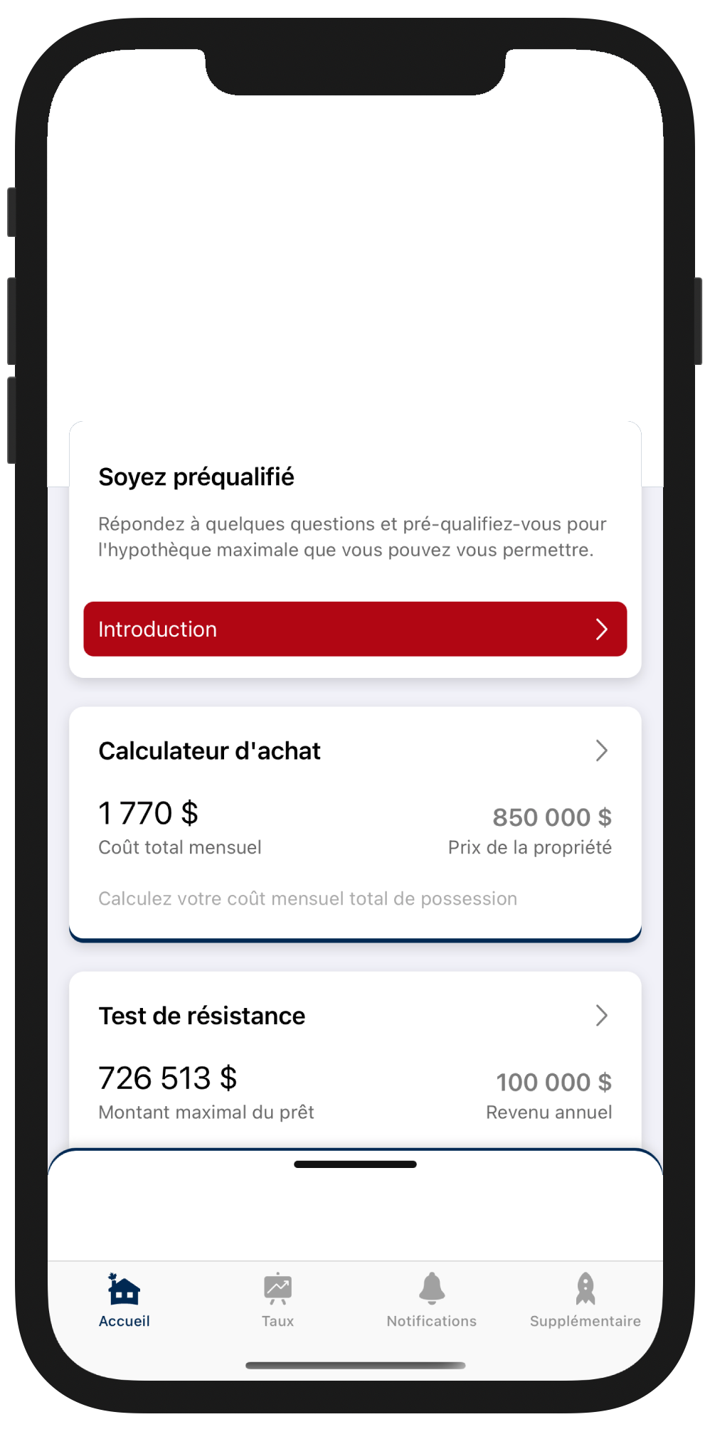 Application Hypothécaire canadienne content preview